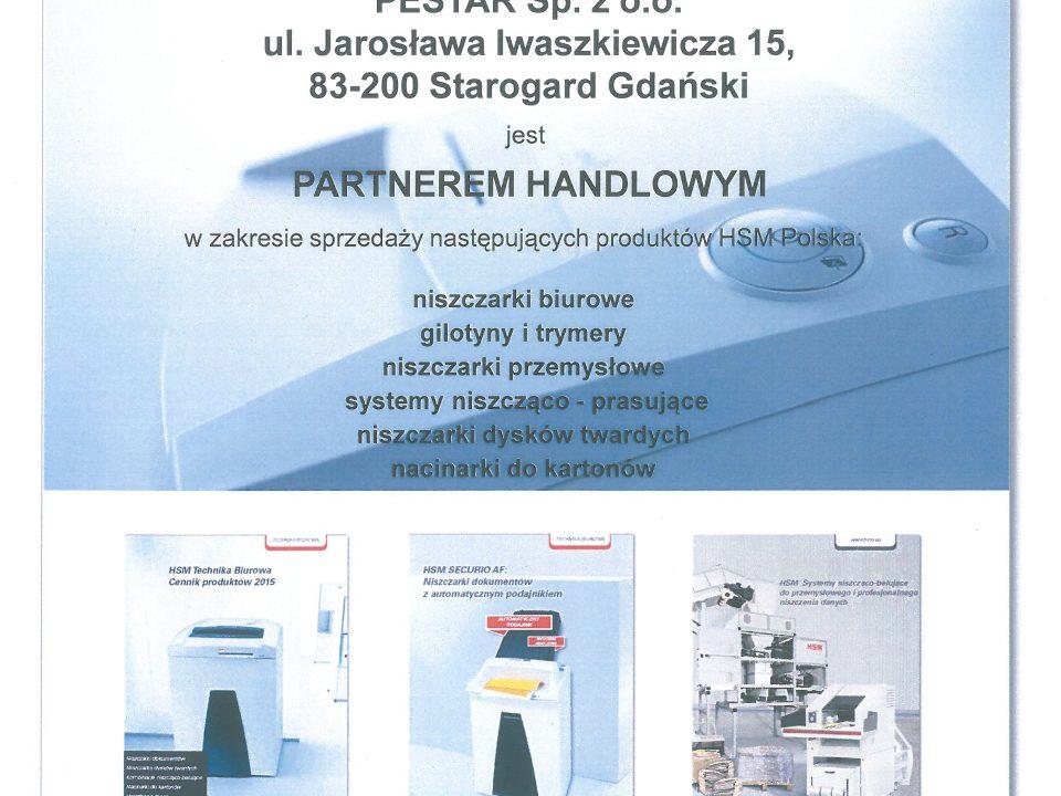 Certyfikat partnerstwa HSM