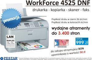 Plakat prezentujący drukarkę
