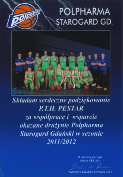 Podziękowanie drużyny Polpharna