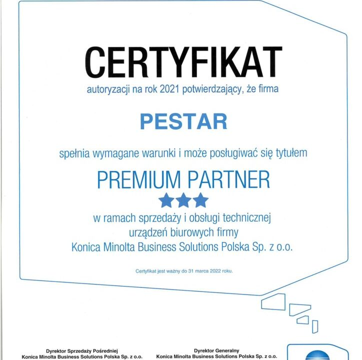 Premium Partner Konica Minolta Cyfryzacjafirm.pl